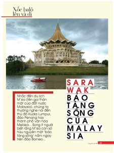 My travel article about Sarawak, Malaysia in Vietnamese teenager newspaper