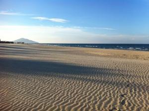 Beach is like a desert.